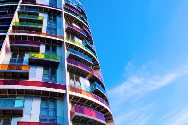 Colourful flats 612x408